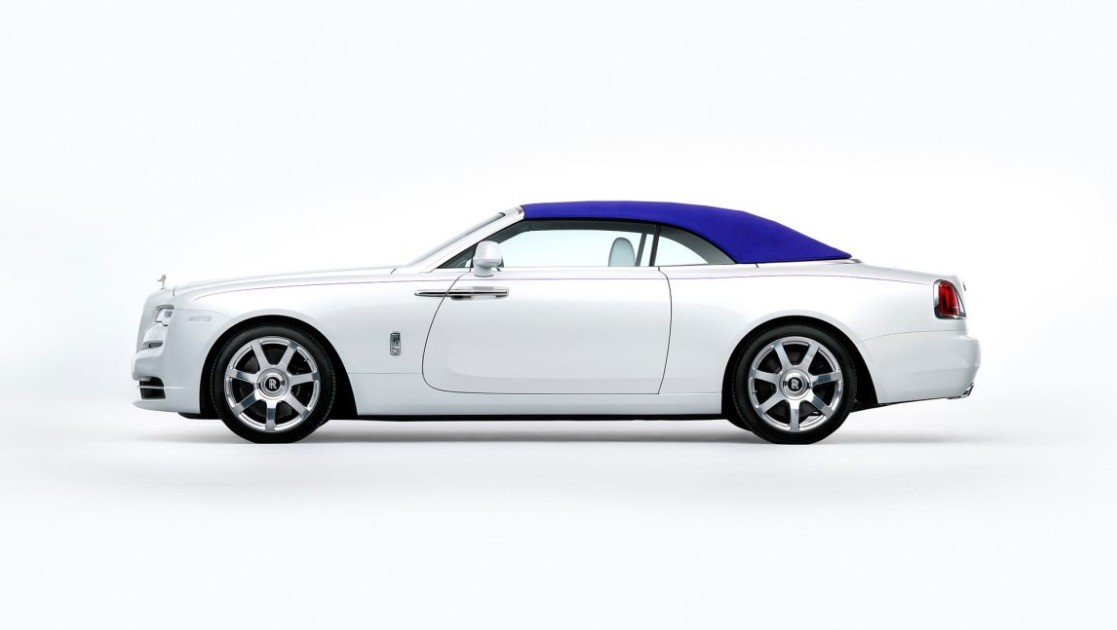 Rolls Royce Presents Dawn Convertible With Red Blue And