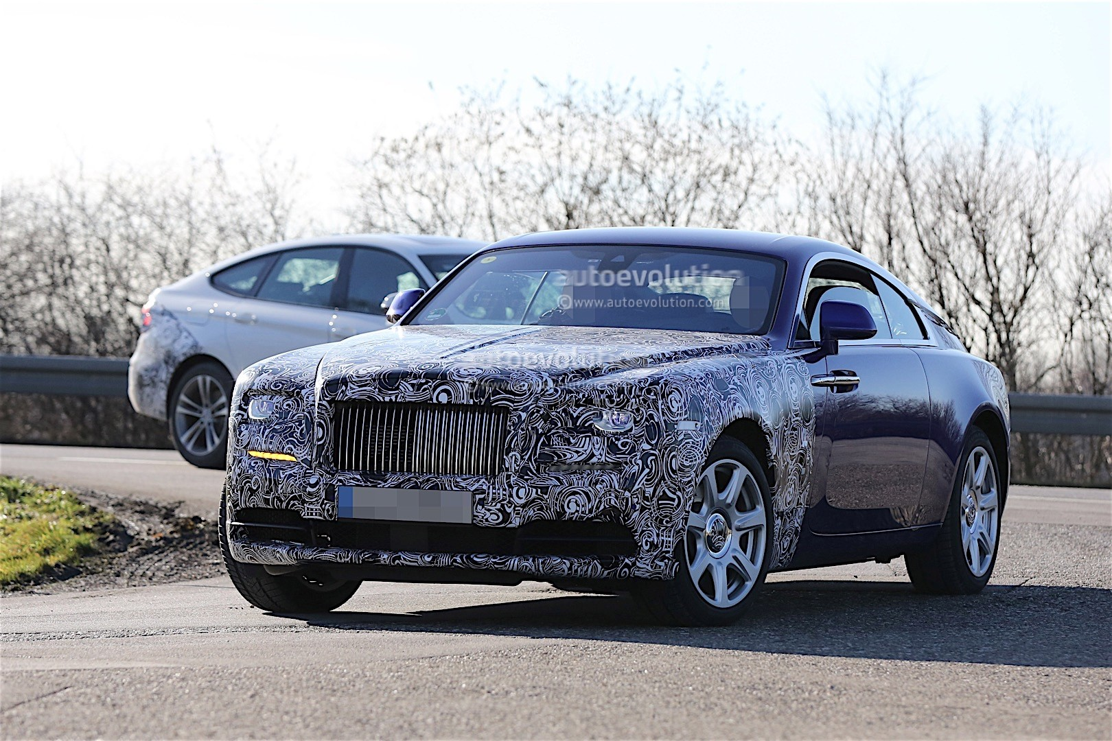 2017 rolls royce wraith facelift starts testing autoevolution. Black Bedroom Furniture Sets. Home Design Ideas