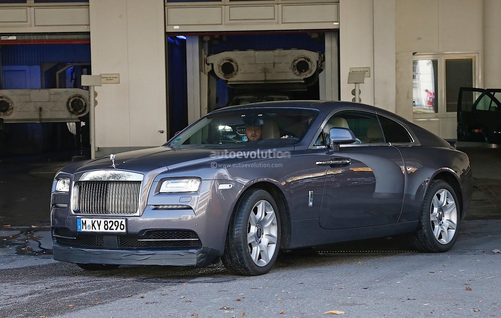 Rolls Royce Wraith Sport Spied Wearing Massive Spoilers