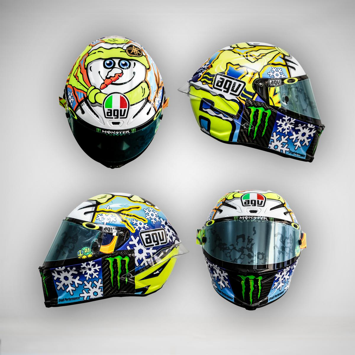 Rossi and Iannone Show Off New Helmets, Stoner Rides at Sepang - autoevolution