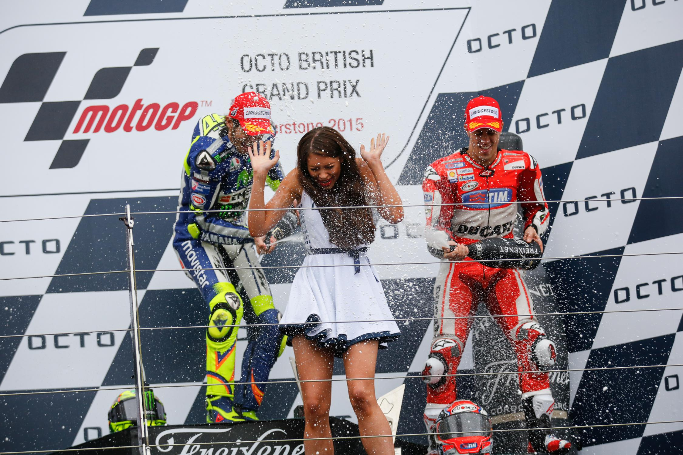 Rossi Wins at Soaked Silverstone, Ducati Again on the ...