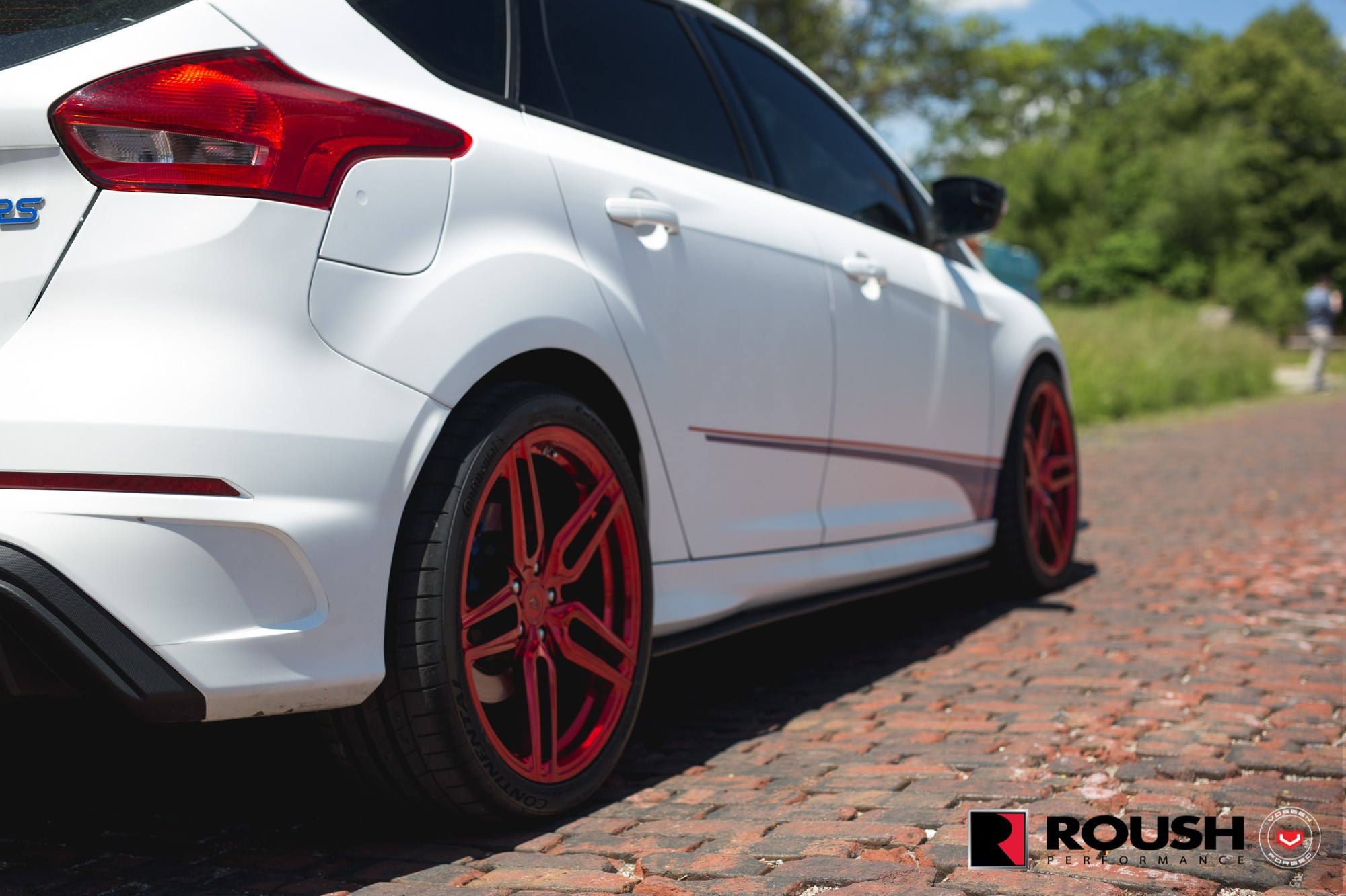 roush ford focus rs gets candy red vossen wheels