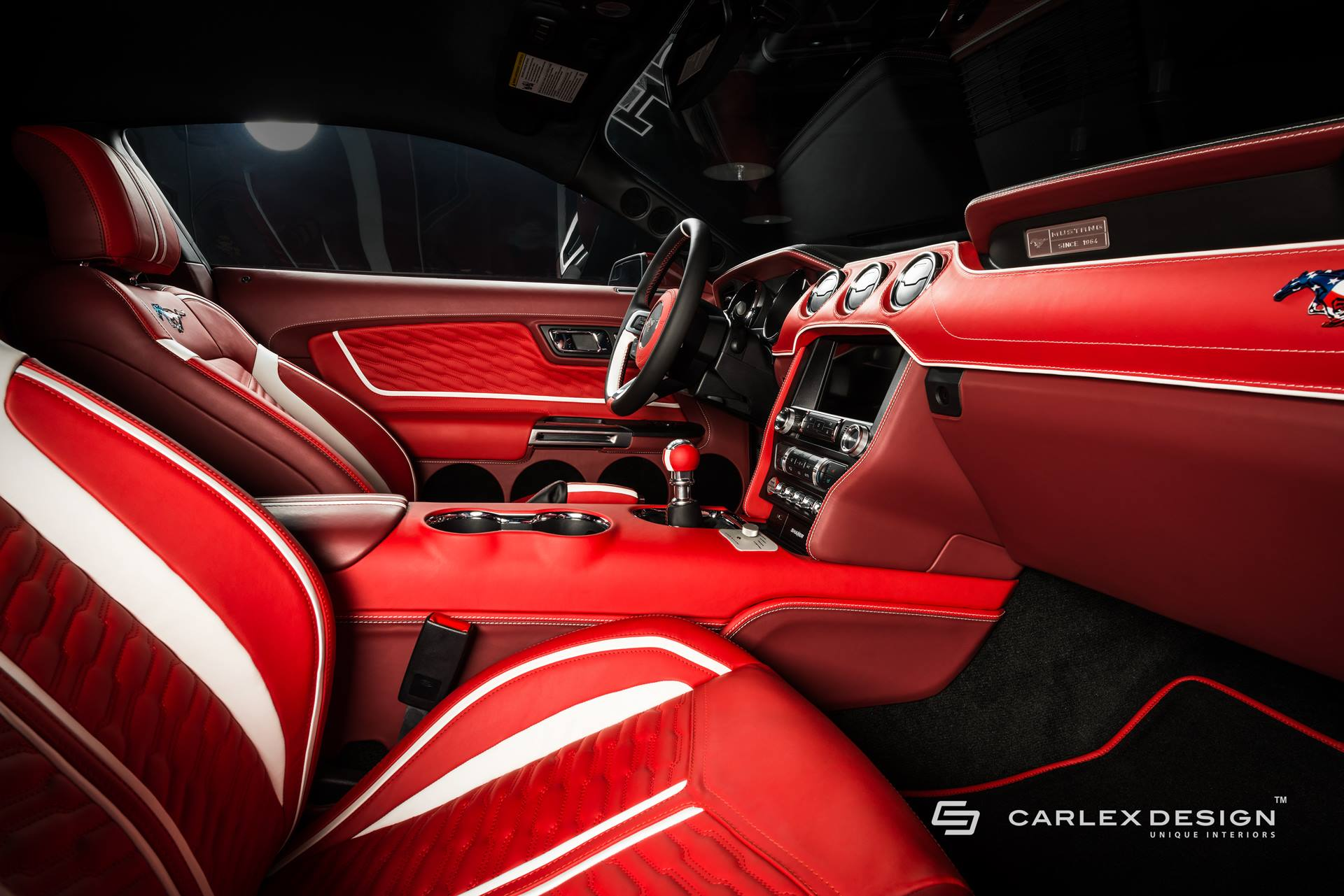 ... Roush Mustang Gets Blood Red Interior From Carlex ...