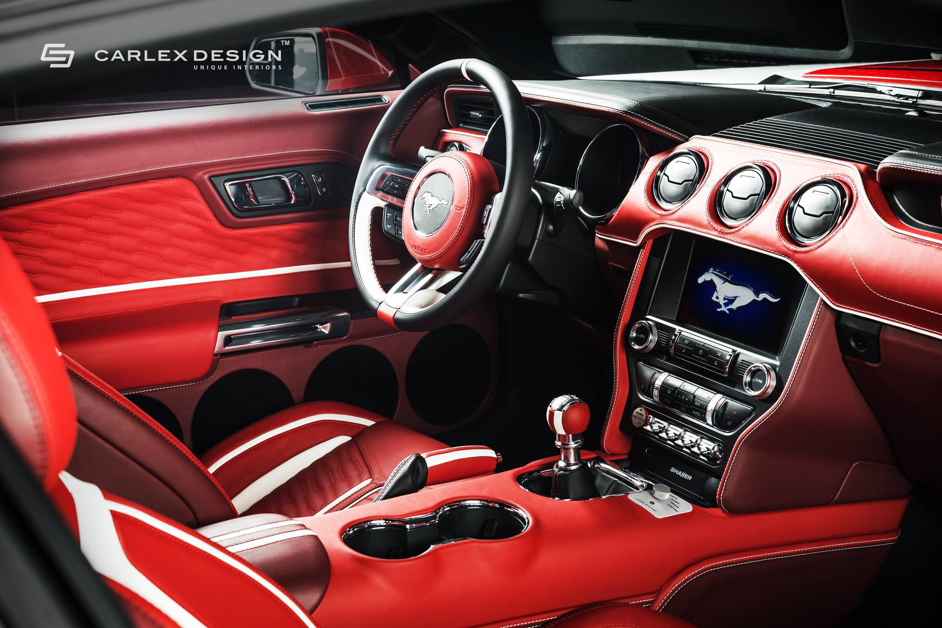 Roush Mustang Gets Blood Red Interior From Carlex