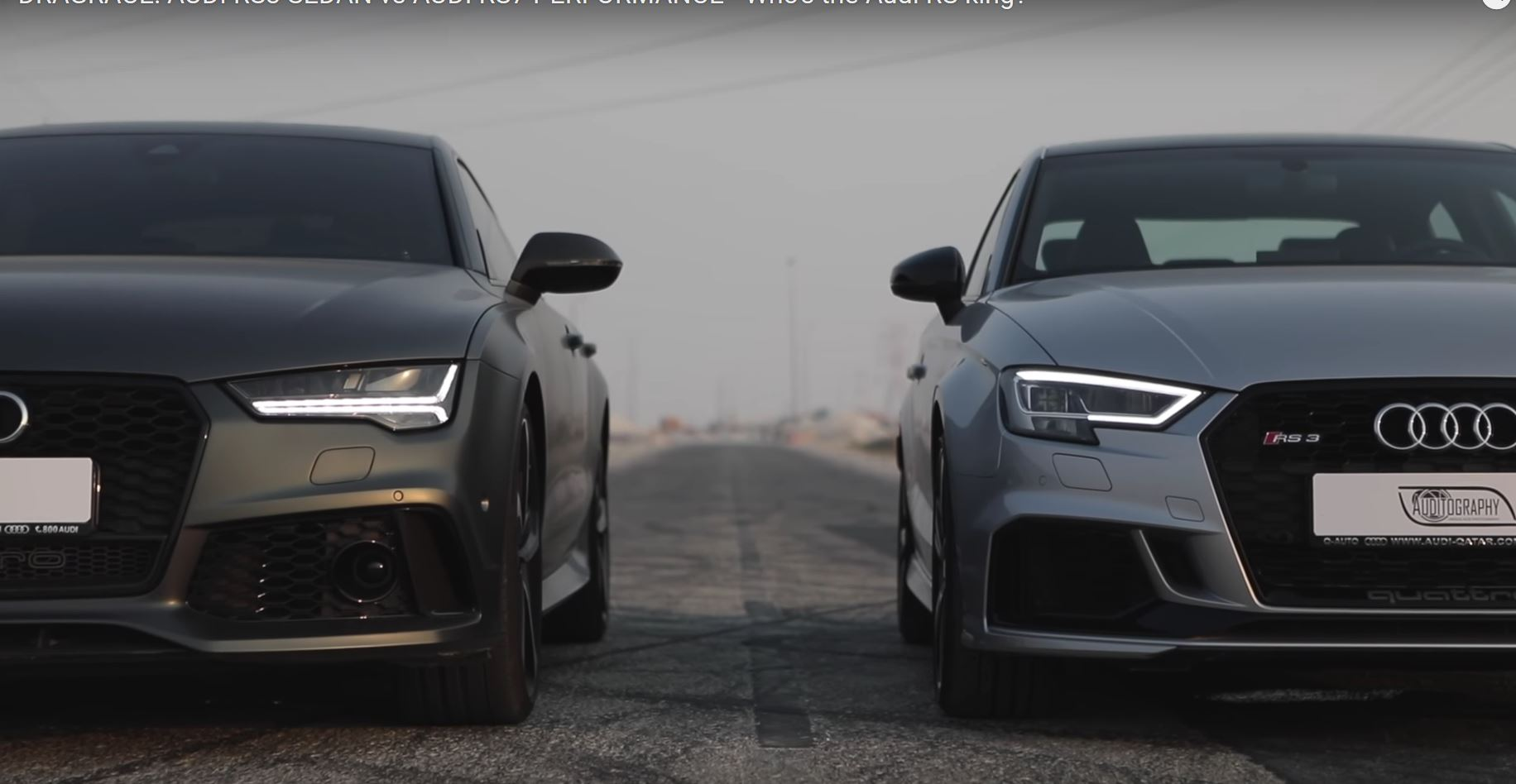 Rs3 Sedan And Rs7 Performance Race Have A Conversation