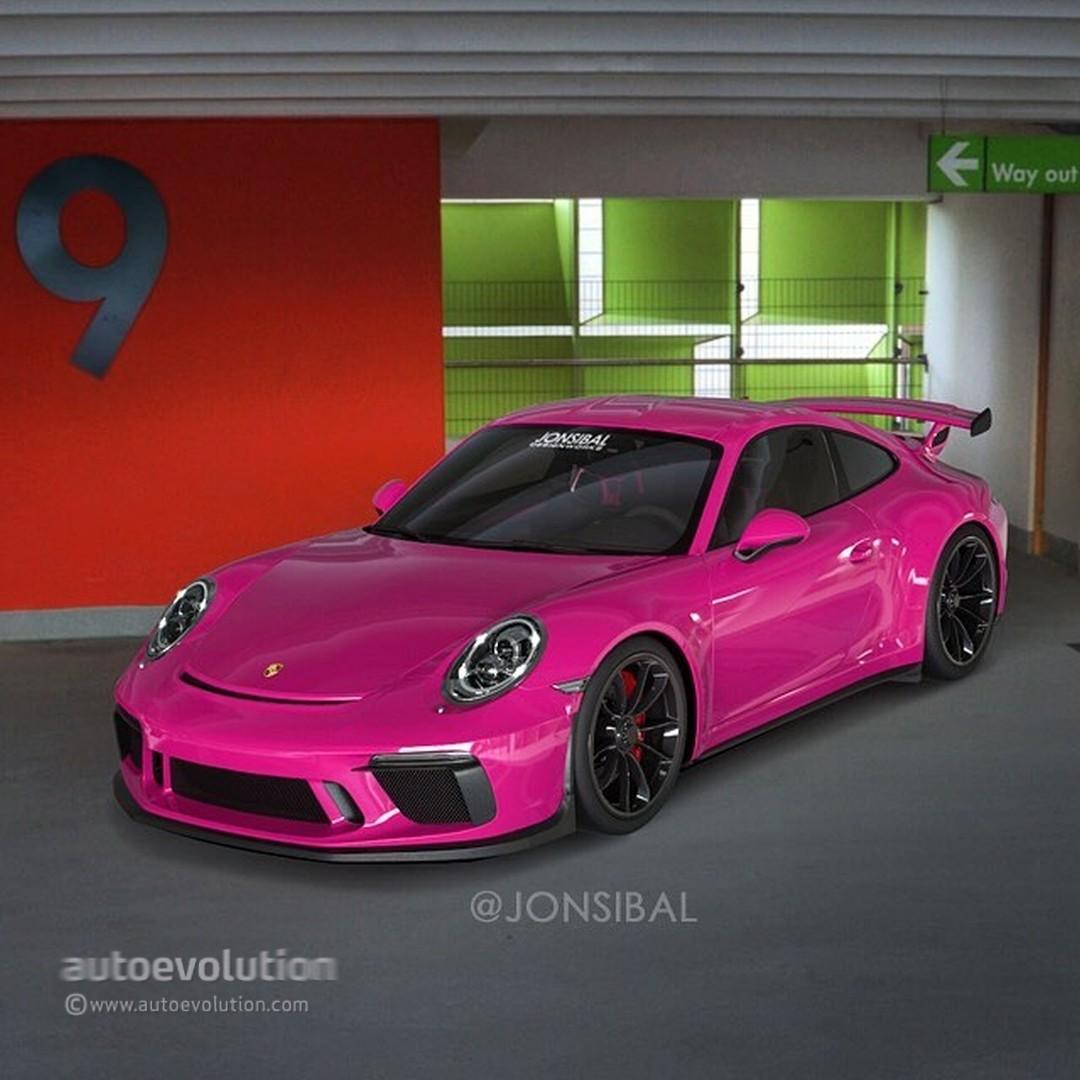 Ruby Star 2018 Porsche 911 GT3 Rendered, One-Ups The