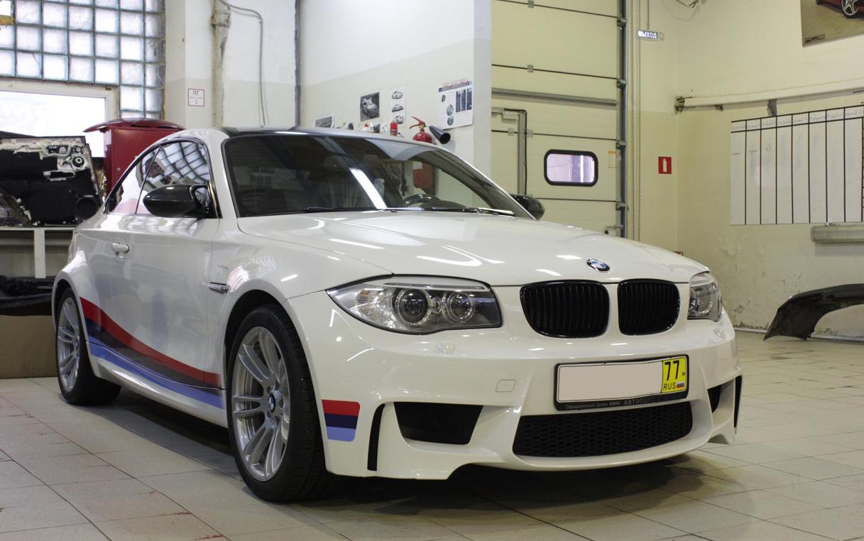 Russian Bmw 1m In Matte White Autoevolution