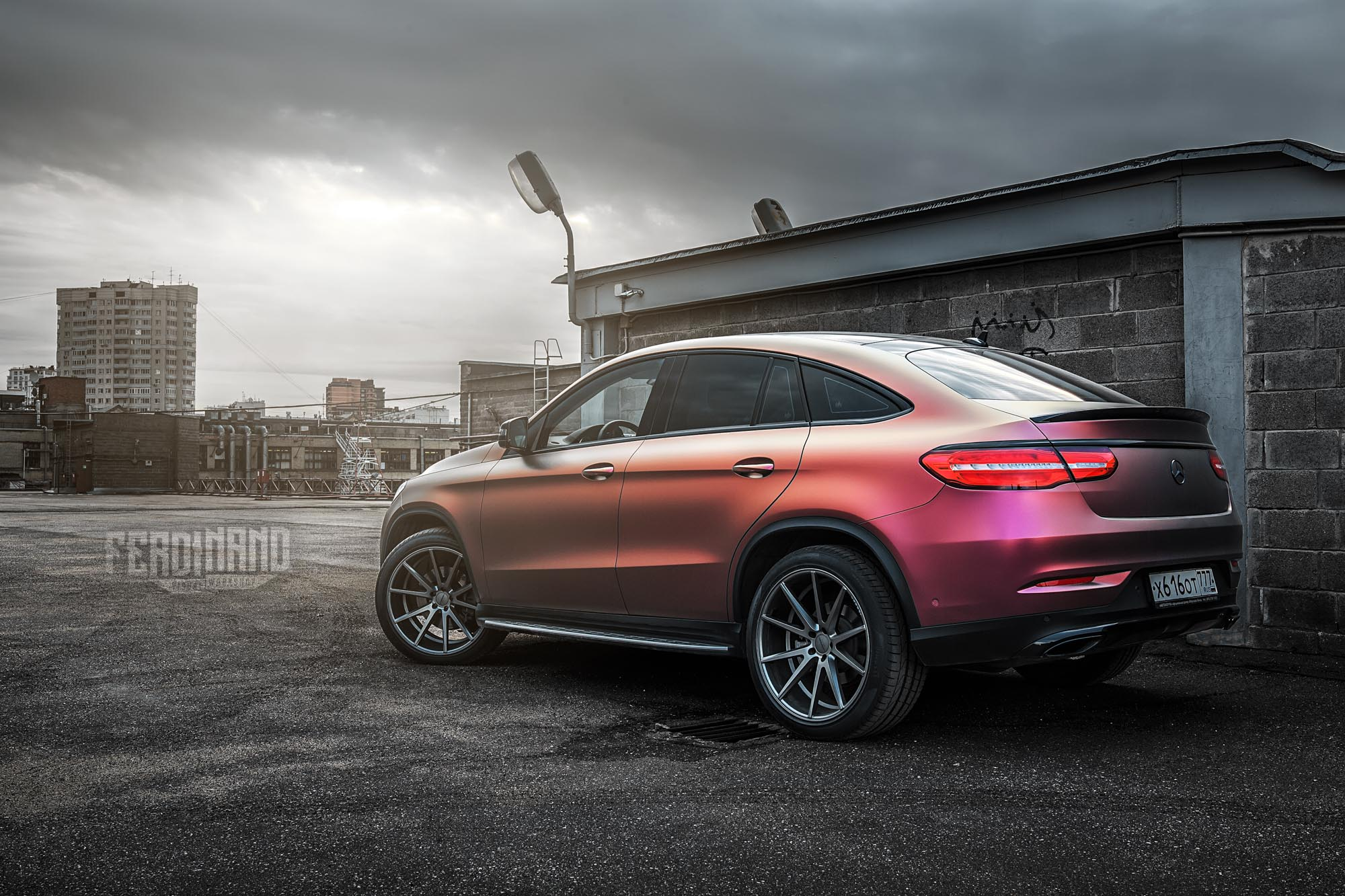 Russian Mercedes Gle Coupe Combines Vossen Wheels With Flip Wrap Autoevolution