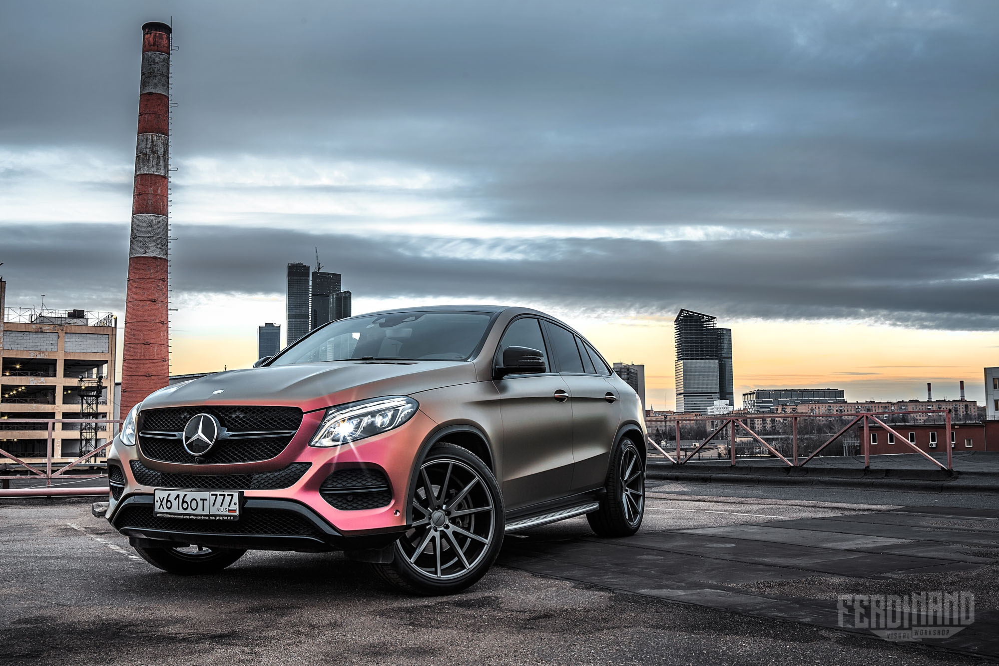 gle mercedes coupe vossen wheels russian wrap flip benz combines w292 vfs1 benztuning changing tuning autoevolution feel merc rate