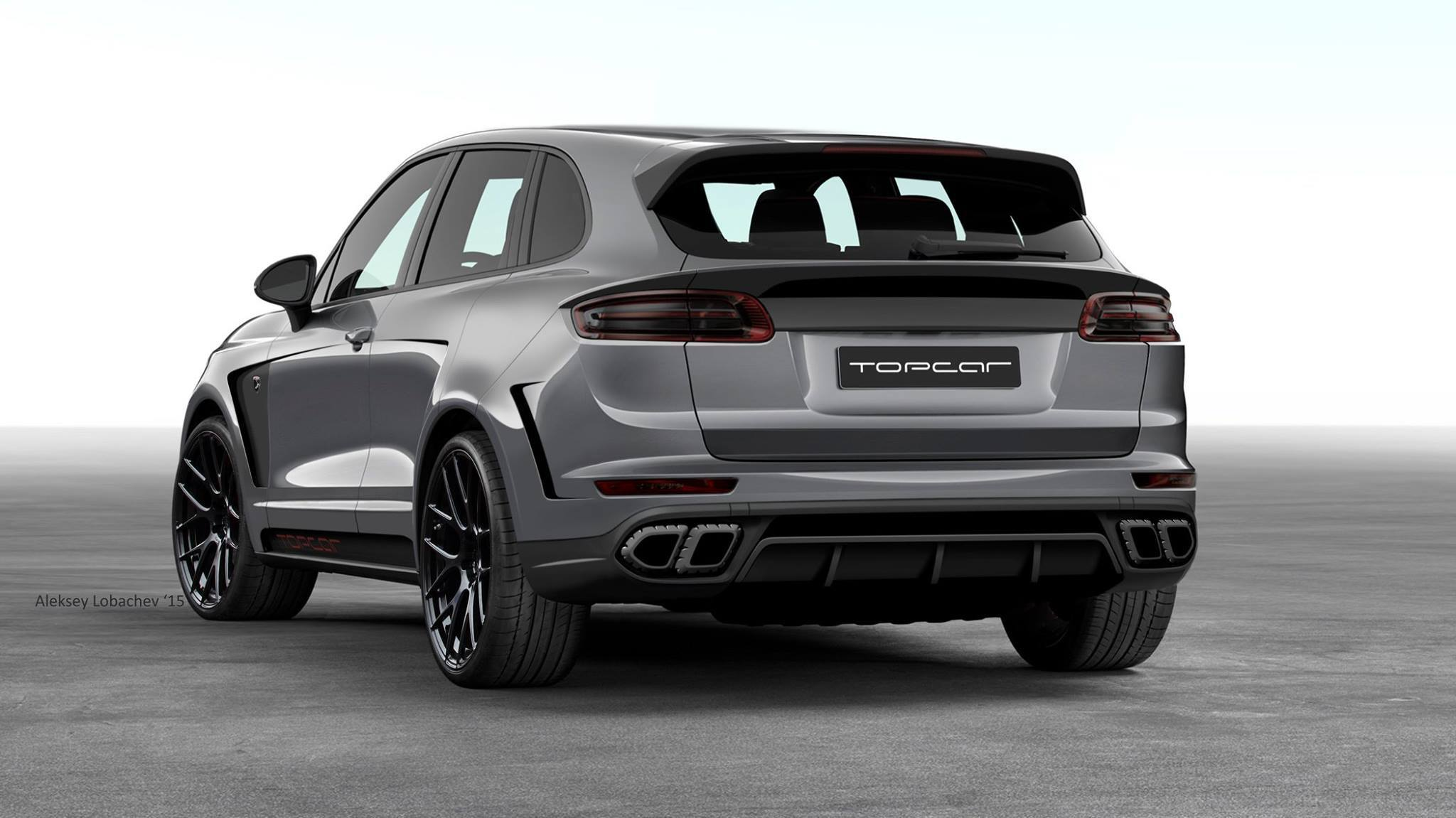Topcar porsche cayenne advantage has 911 headlights and macan taillights