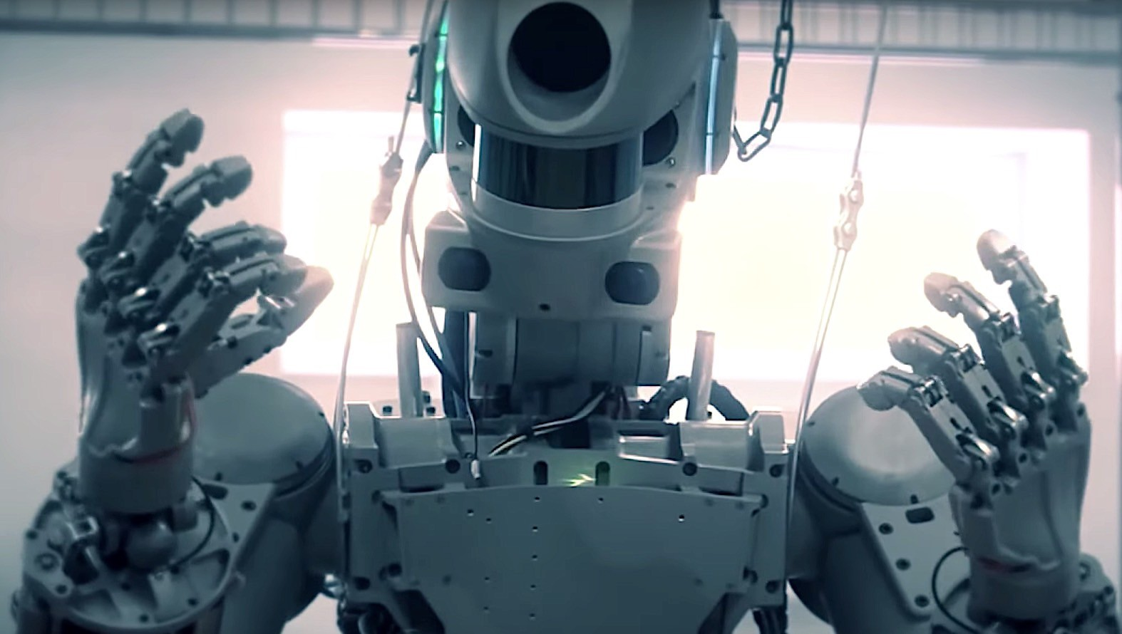 Russia launches humanoid into outer space