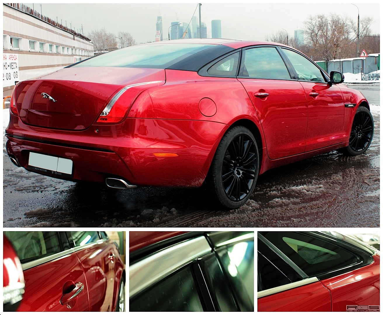 Russian Tuner Makes Jaguar Xj Anti Chrome Statement