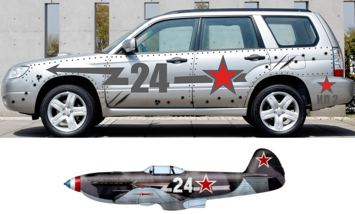 russians love to decorate their cars for victory day autoevolution. Black Bedroom Furniture Sets. Home Design Ideas