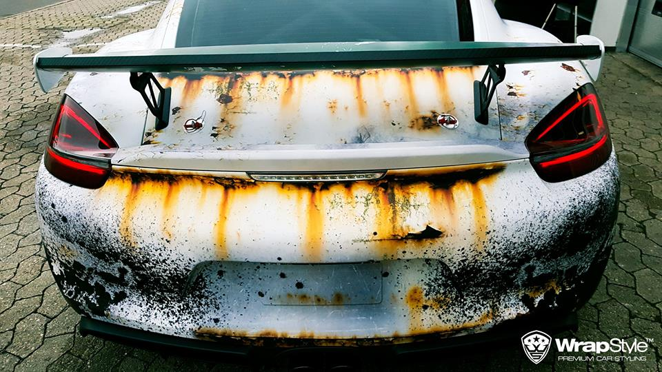 Rusty Polizei Wrap Porsche Cayman Gt4 Is How To Troll The