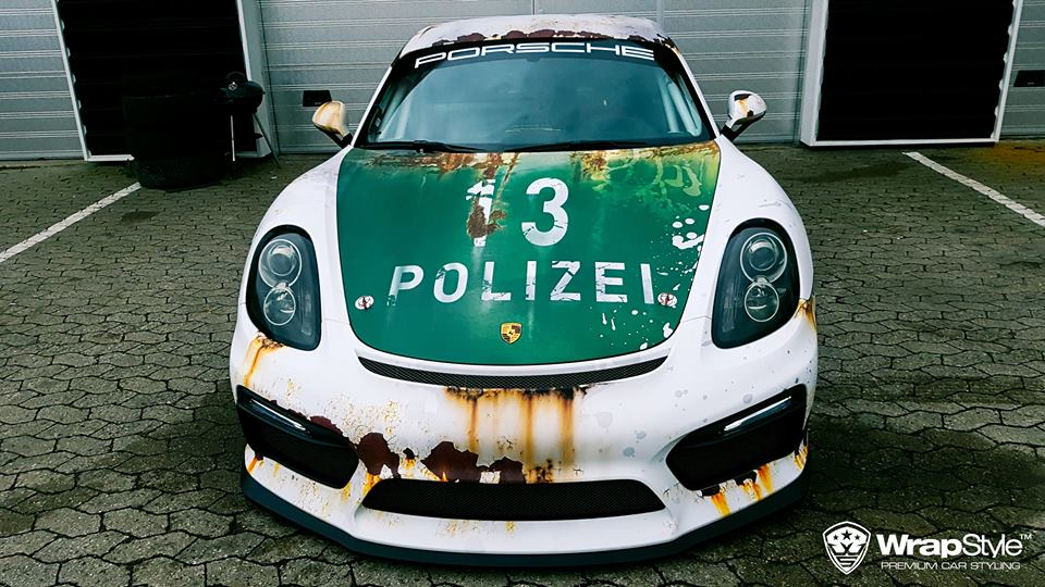 Rusty Polizei Wrap Porsche Cayman Gt4 Is How To Troll The Police From Abroad 110860 on hybrid electric cars 2014