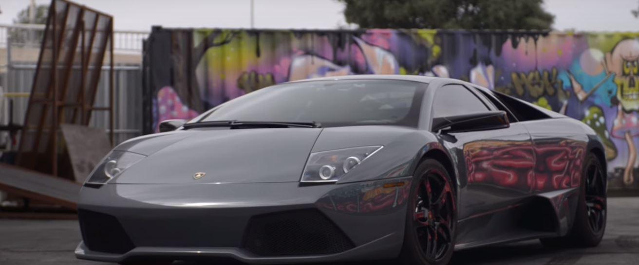 ... RWD Lamborghini Murcielago Drag Races Electric Smart Car ...