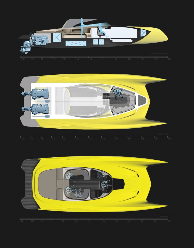 2019 Bugatti La Voiture Noire Sketches By Etienne Gallery: Salomé Yachts' Atlantic Sport Tender Is Like A Bugatti On