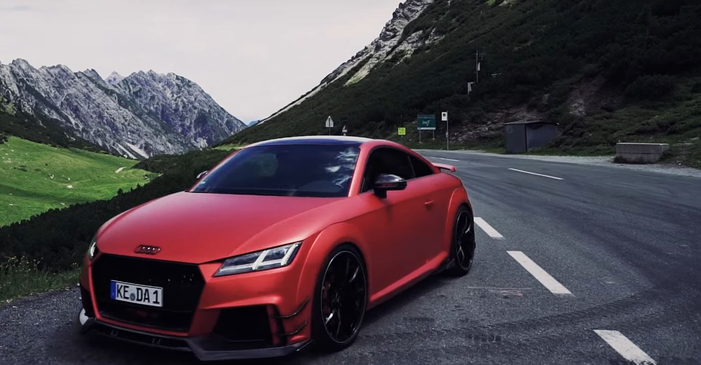 Sample Abt S 500 Hp Audi Tt Rs R In Satin Metallic Red Autoevolution