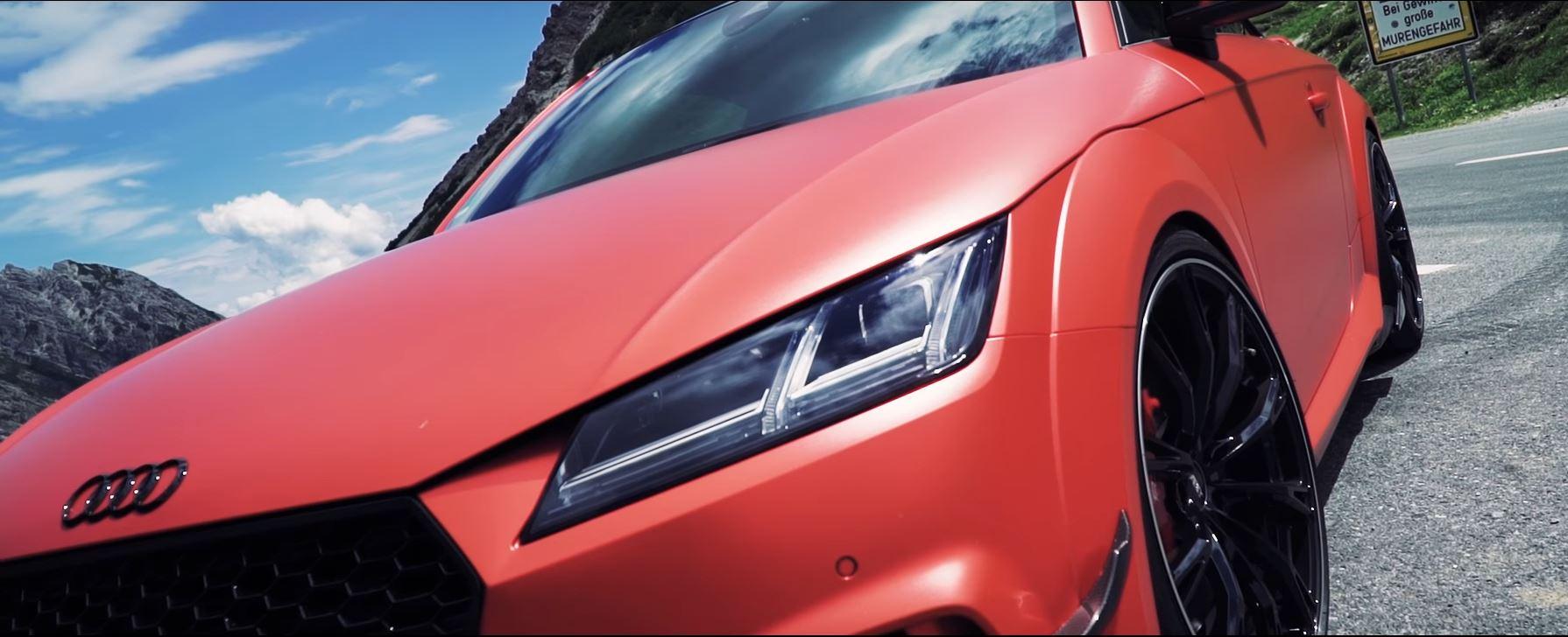 Sample Abt S 500 Hp Audi Tt Rs R In Satin Metallic Red Autoevolution