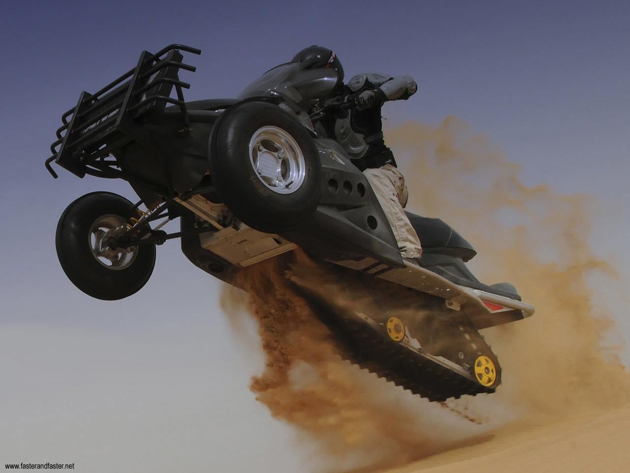 Sand X The Desert S Snowmobile Autoevolution