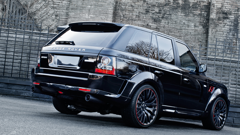 santorini black rs600 kahn cosworth range rover sport