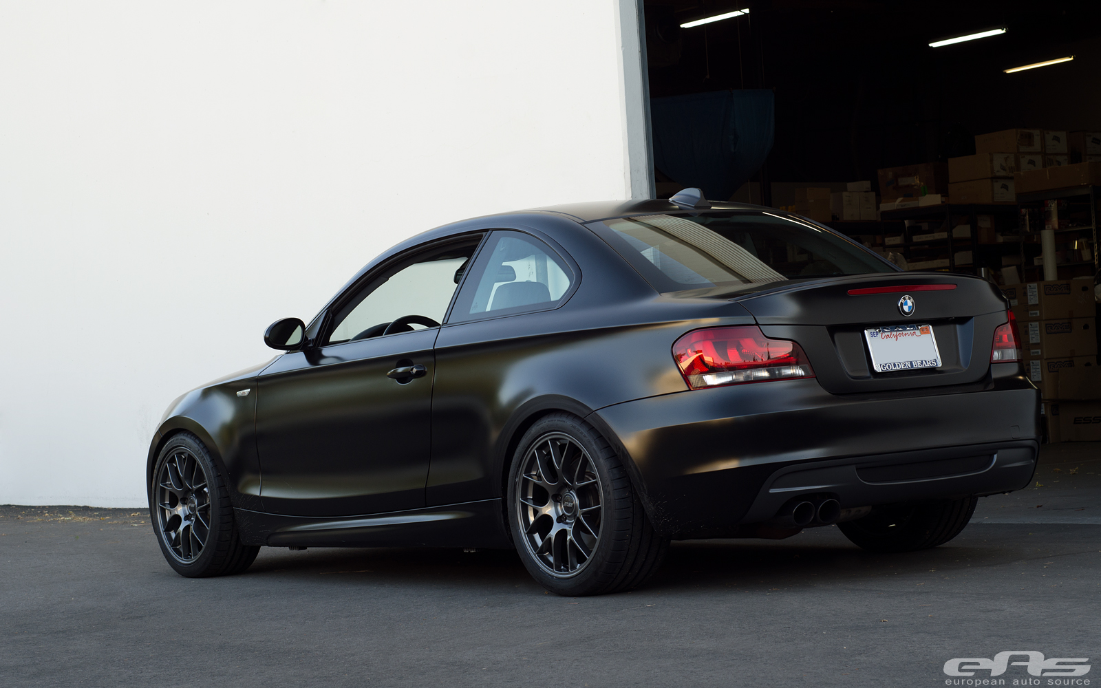 Satin Black Bmw E82 135i Actually Looks Good Autoevolution