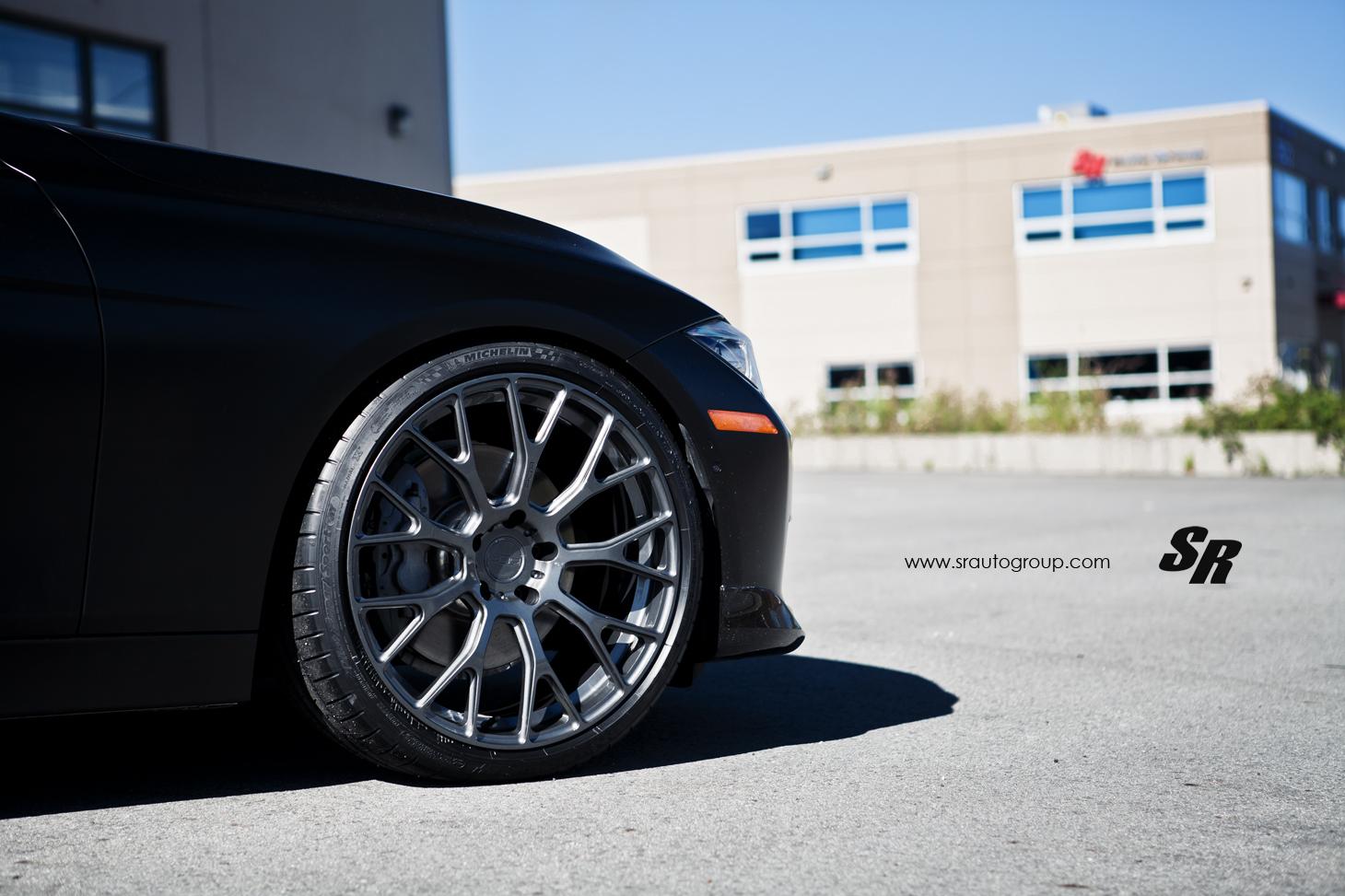 Satin Black Bmw F30 3 Series Rides On Pur Wheels Autoevolution