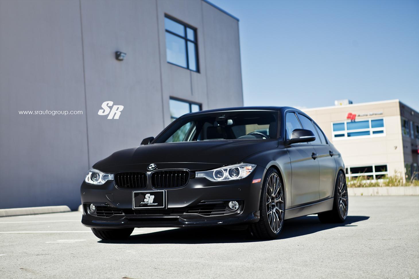 Satin Black BMW F30 3 Series Rides on PUR Wheels ...