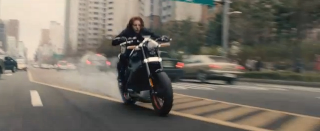 Scarlett Johansson Rides A Harley Livewire In Avengers Age
