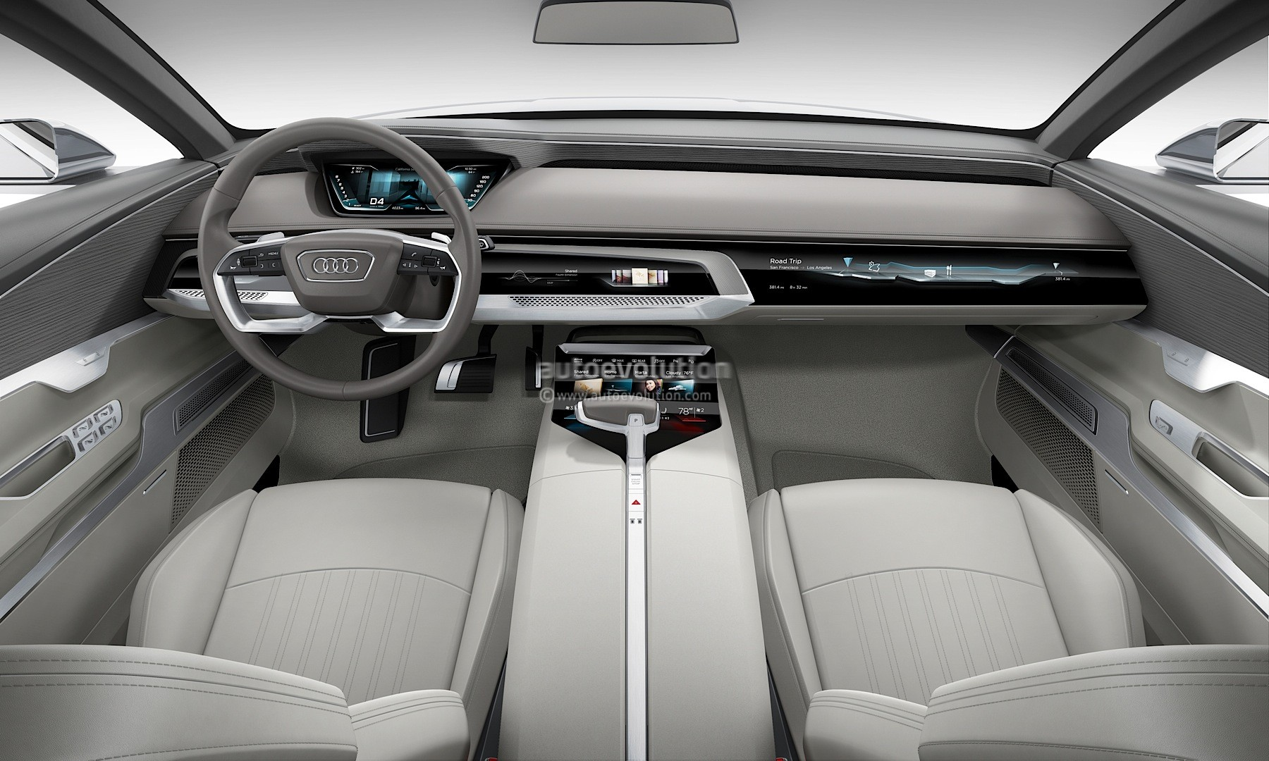 Scoop Audi Prologue Concept Has Q Steering Wheel on Audi A8 Gear Shifter