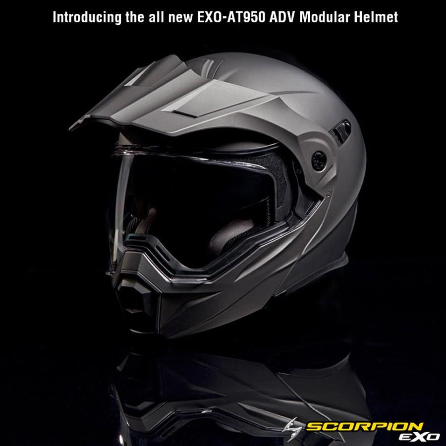 Scorpion Shows EXO-AT950 Modular Adventure Helmet Under