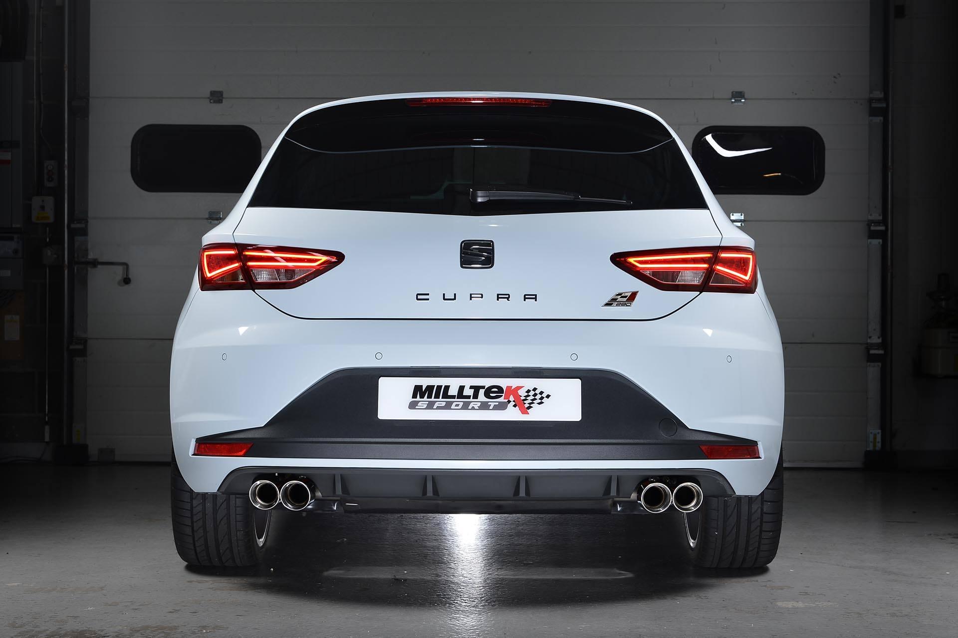 seat leon cupra 280 ps gets milltek performance exhaust autoevolution. Black Bedroom Furniture Sets. Home Design Ideas