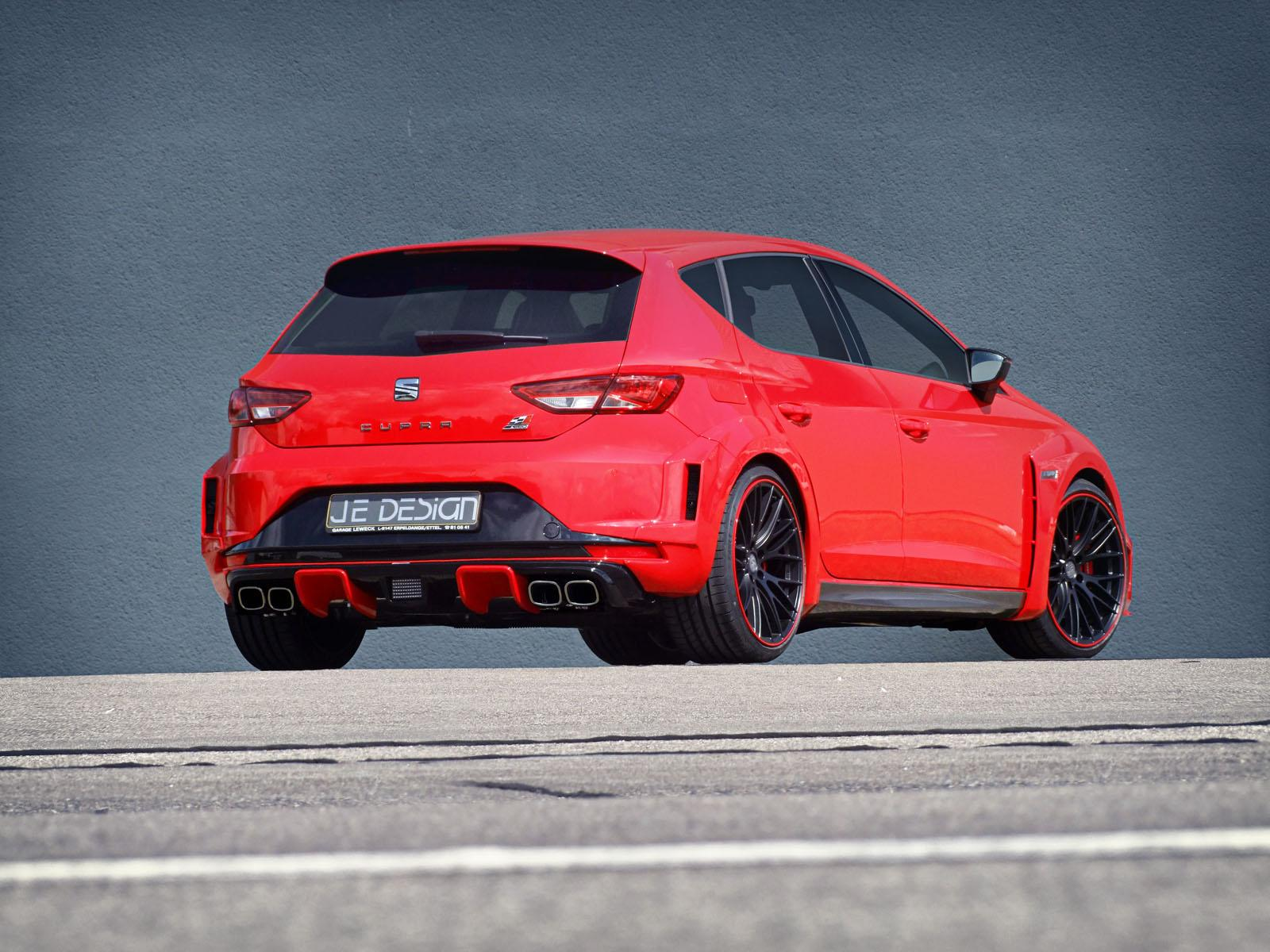 seat leon cupra gets widebody kit from je design. Black Bedroom Furniture Sets. Home Design Ideas