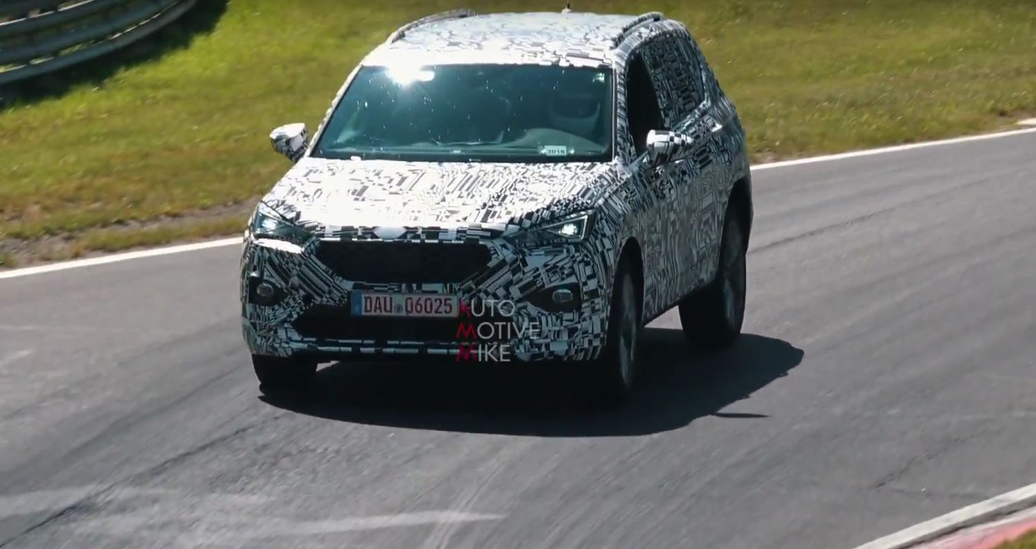 Seat Tarraco Looks Surprisingly Stable During Nurburgring Testing Autoevolution