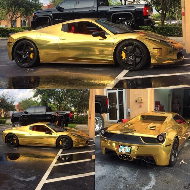 Ferrari Of Seattle >> Seattle Mariners' Robinson Cano Gets Gold Wrap on His Ferrari 458 Spyder - autoevolution