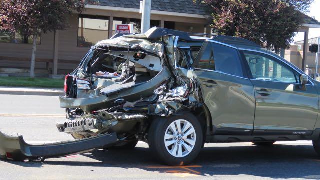 Semi Crushes Corvette and Rear-Ends SUV in Oregon ...