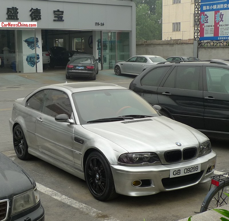 Shadowline Bmw E46 M3 Wears Matte Chrome Silver In China