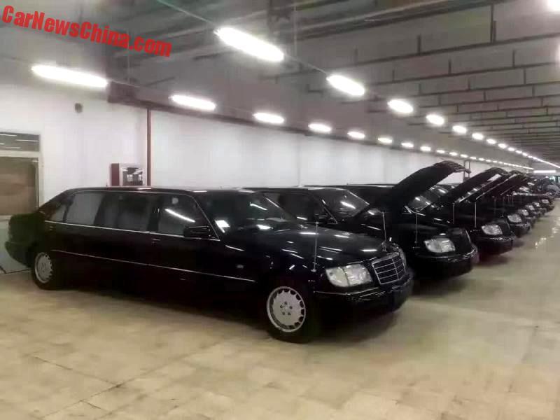 shanghai government just sold 8 rebadged v140 mercedes-benz pullman