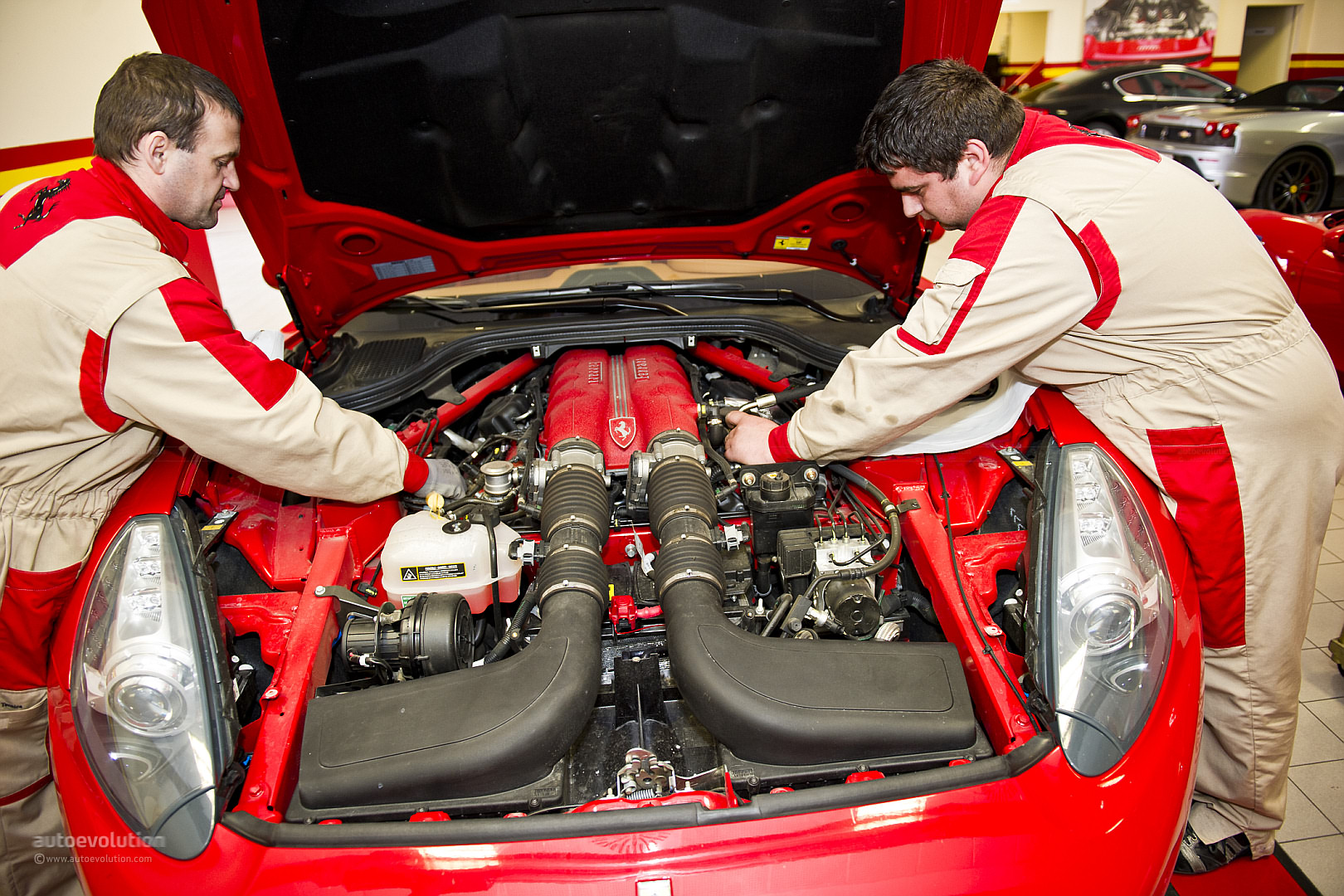 Ferrari Oil Change >> Shoeing The Prancing Horse Ferrari Service Visit