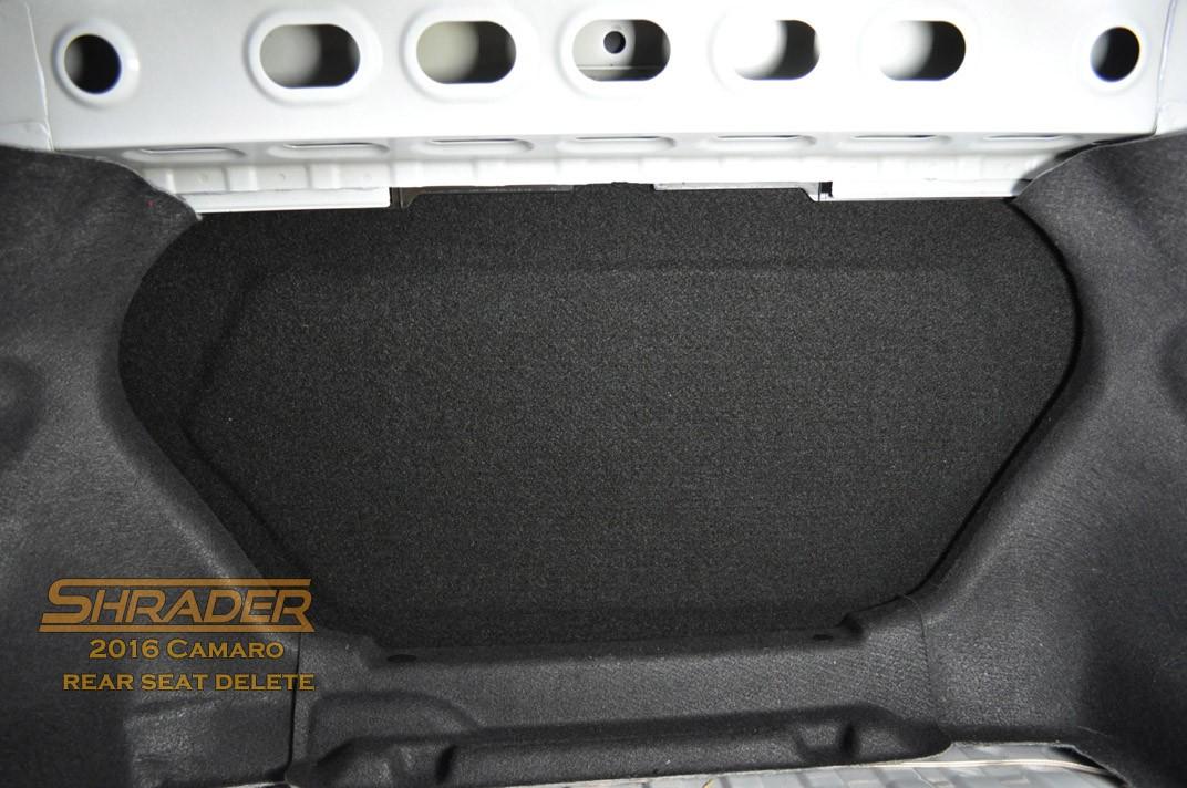 Shrader Rear Seat Delete Kit For Camaro Gen 6 Shaves Off 20