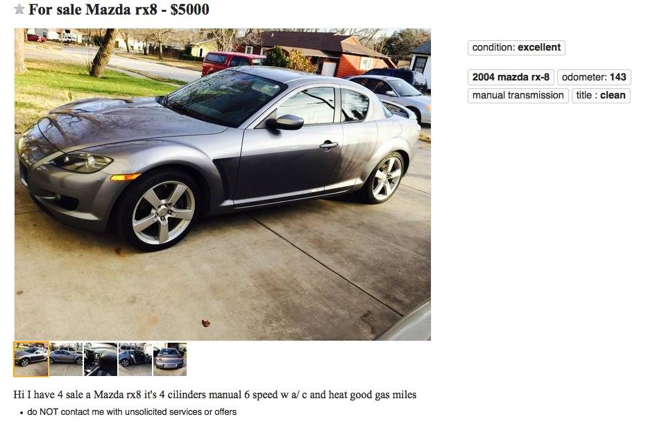 Nice Mazda RX 8 Lol ...