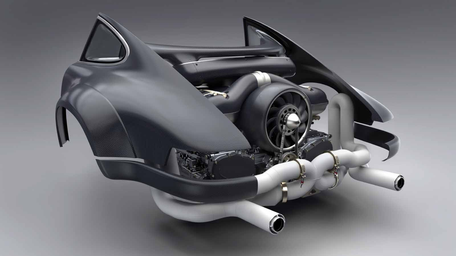 singer 39 s new 500 hp air cooled 911 engine sounds amazing. Black Bedroom Furniture Sets. Home Design Ideas