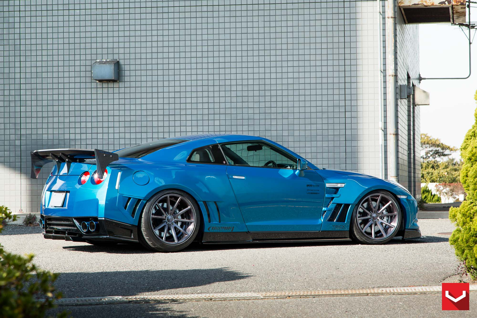 Skipper Tuning Nissan Gt R Excellent Aero Effects Vossen Wheels  ... : Skipper Tuning Nissan GT-R: Excellent Aero Effects, Vossen Wheels