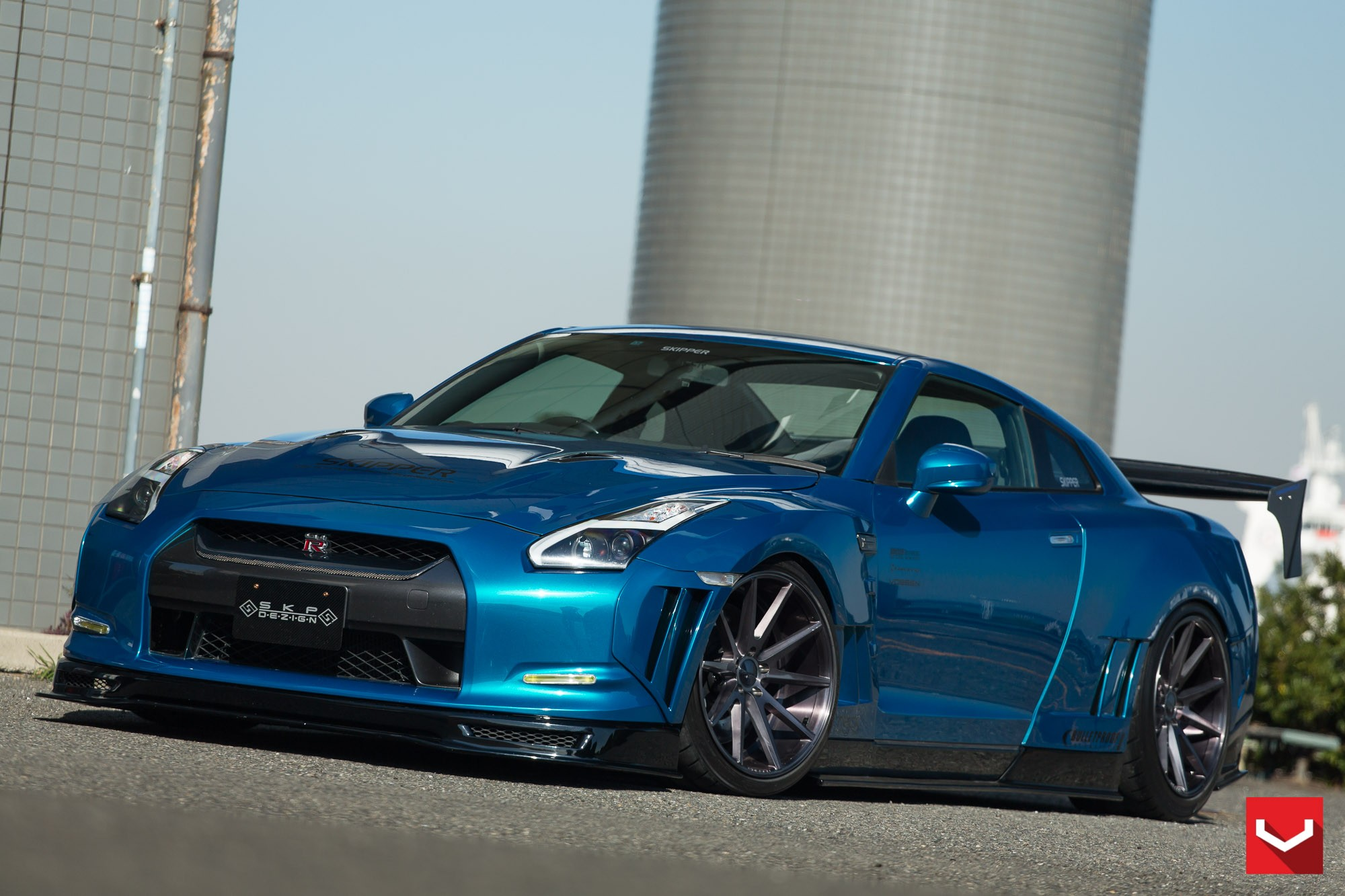 Skipper Tuning Nissan Gt R Excellent Aero Effects Vossen Wheels