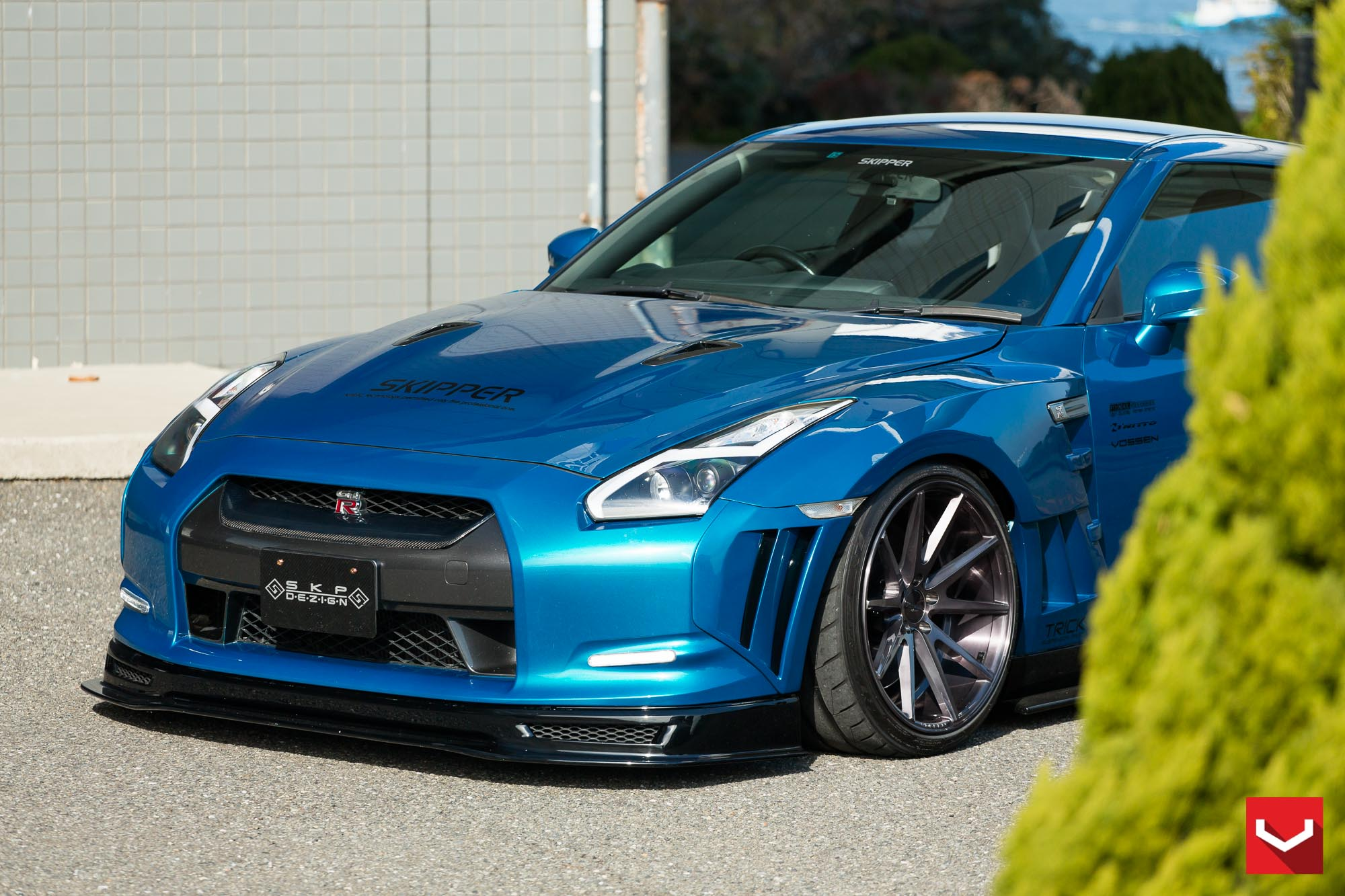 Skipper Tuning Nissan Gt R Excellent Aero Effects Vossen