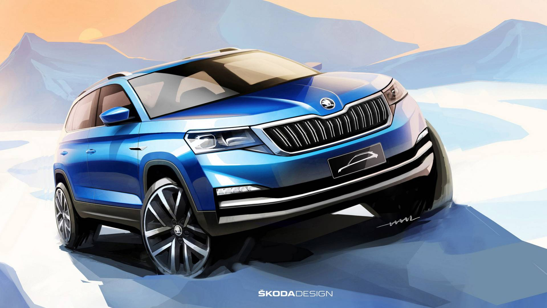 2018 Skoda Kamiq Teased In Official Design Sketches - autoevolution