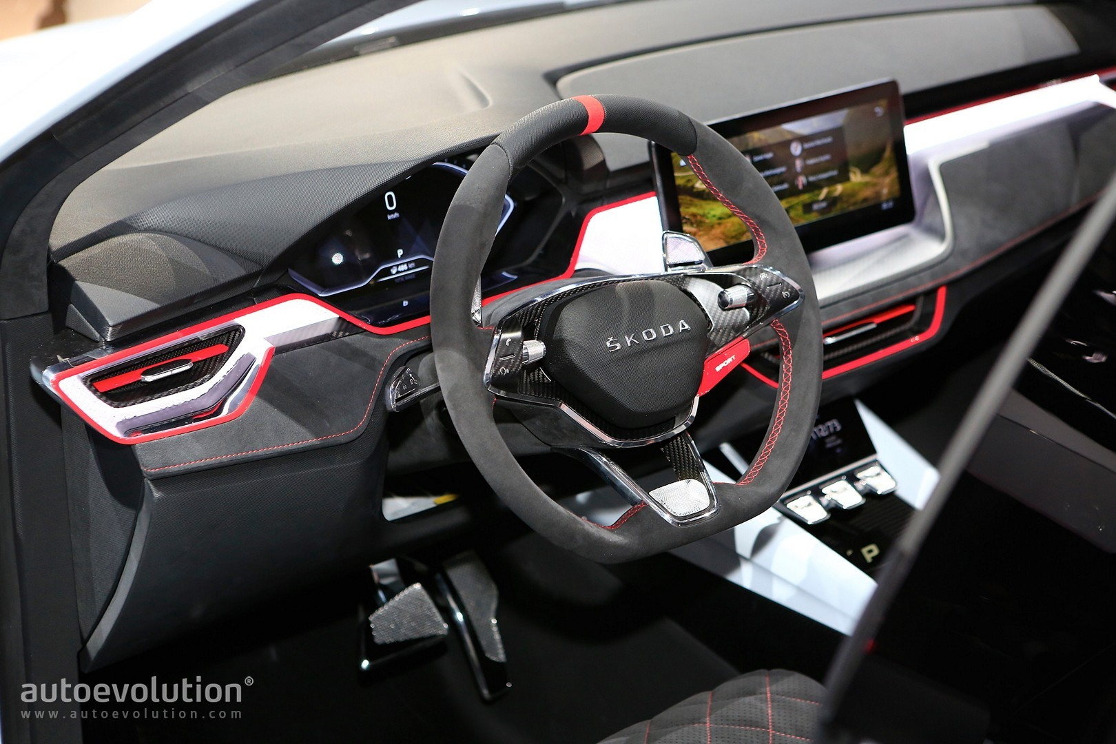 Skoda Future Interior Design Previewed By Vision Rs Paris 11 Scala