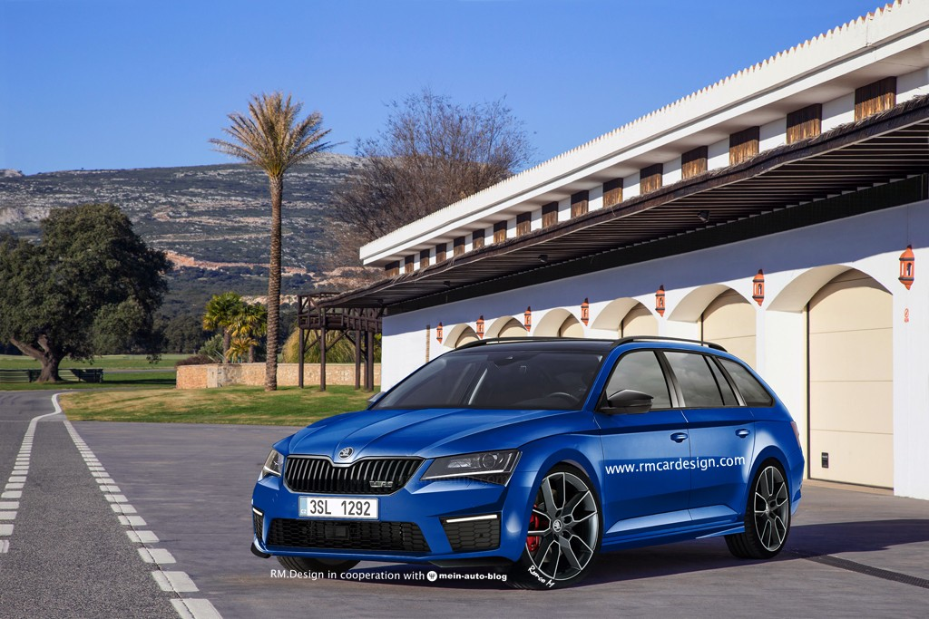 Skoda superb combi vrs will look like thisu if it ever happens