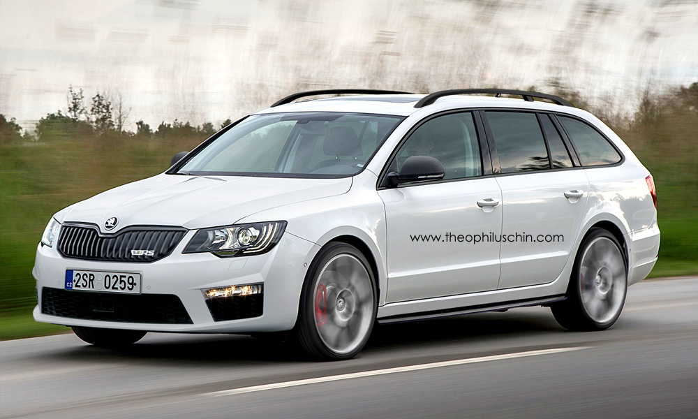 skoda superb vrs combi how about a 300 hp flagship skoda autoevolution. Black Bedroom Furniture Sets. Home Design Ideas