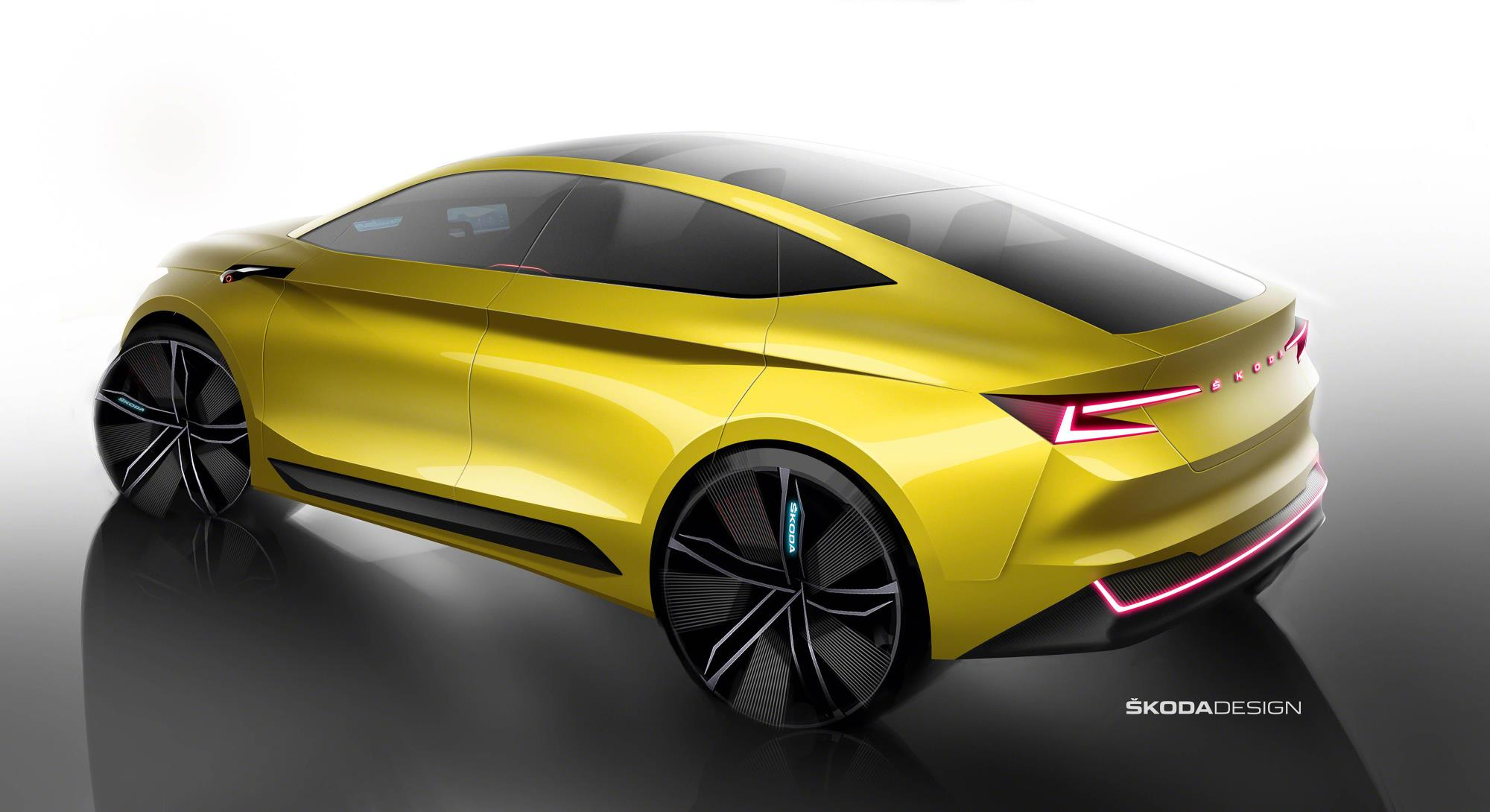 Skoda Vision iV Revealed as Super-Sexy SUV-Coupe Concept ...